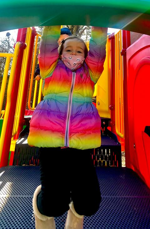 outdoor play at OLMC-CCC